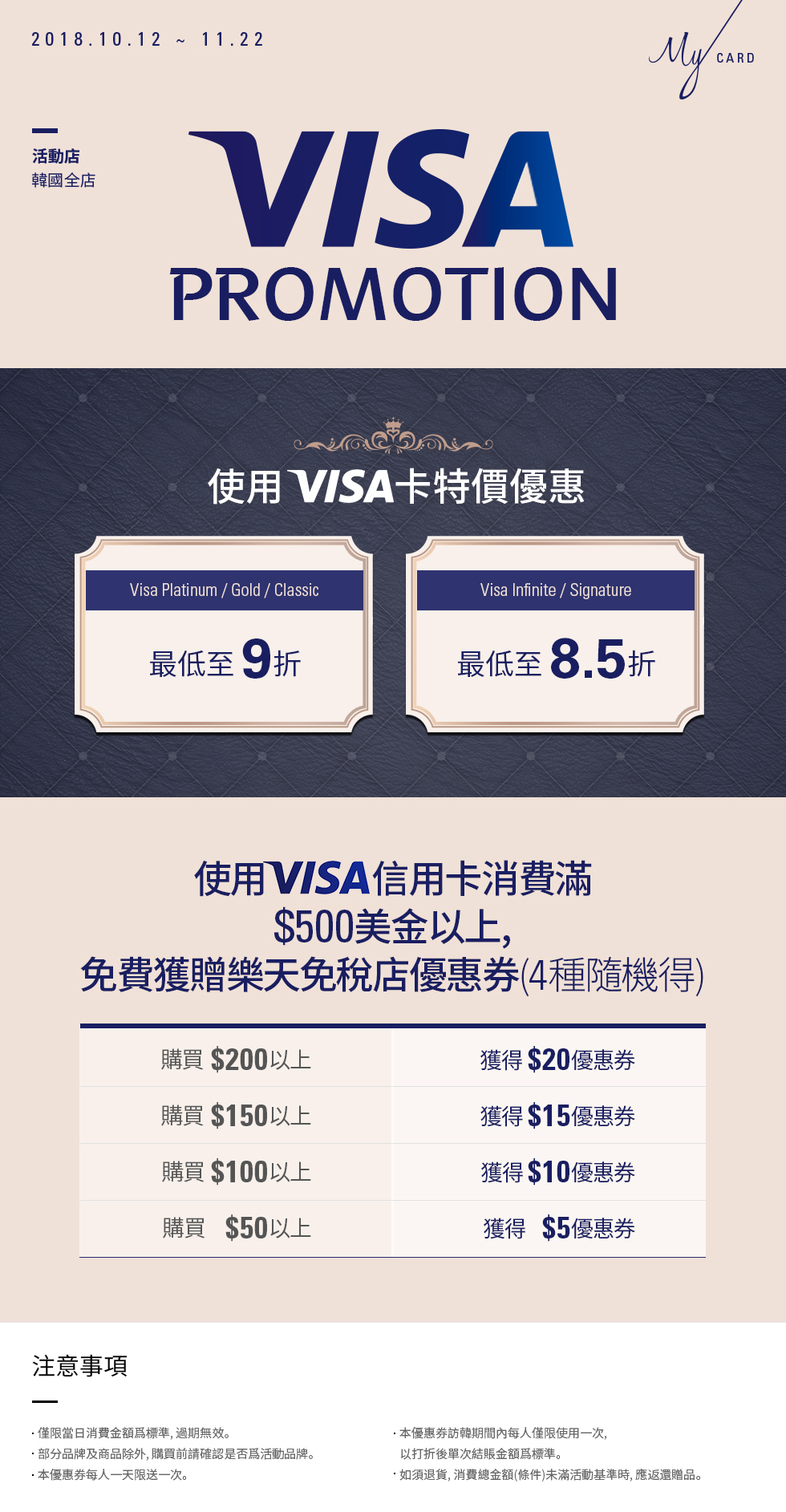 使用 Visa 卡特價優惠