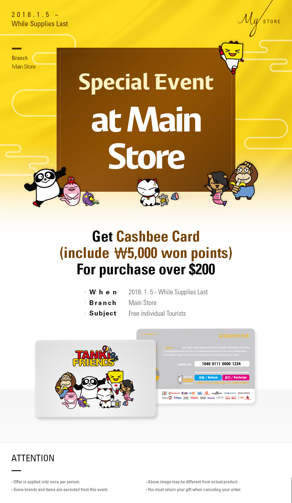 Special Event at Main Store
